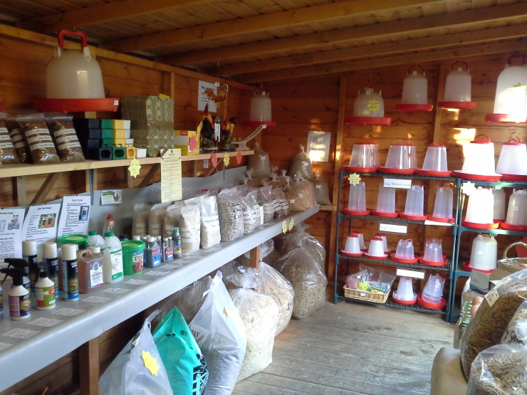 On site shop selling all your poultry needs. Including all types of feed and bedding